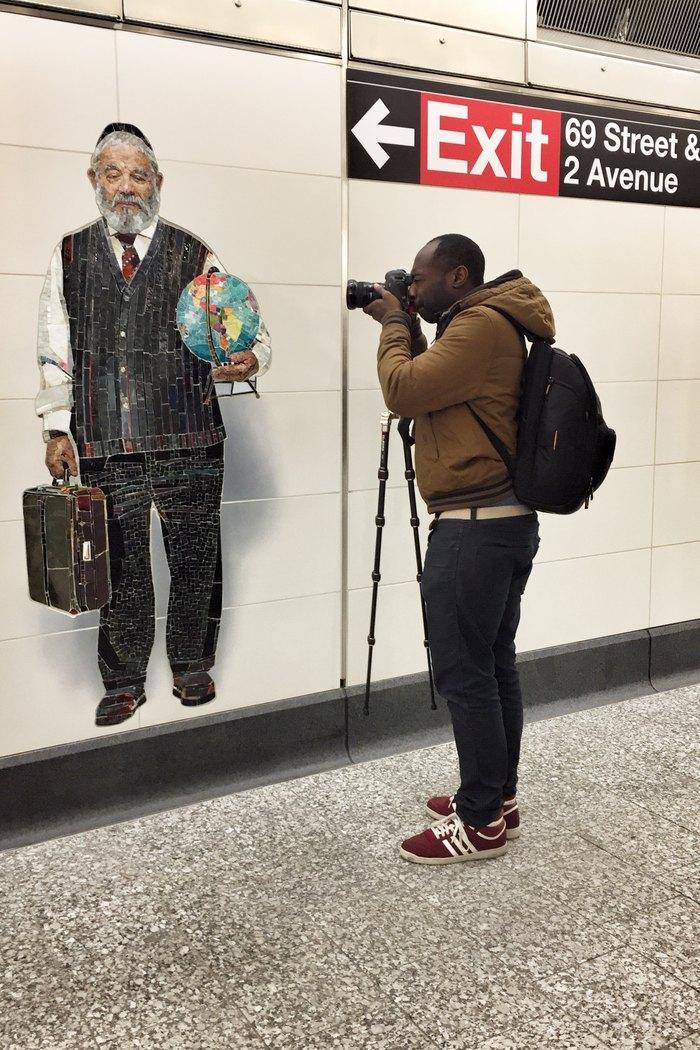 Vik Muniz Perfect Strangers U-Bahn-Kunst