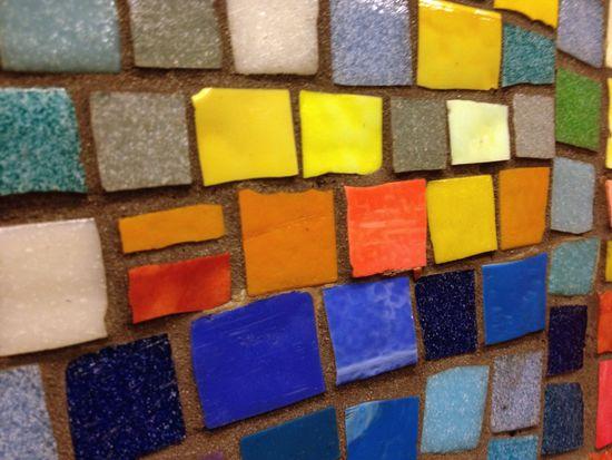 Mosaik in der U-Bahn