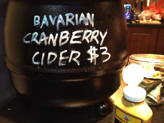 New Yorker Version von Bayern: Cranberry Cider