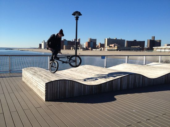 Bike Trick in Coney Island