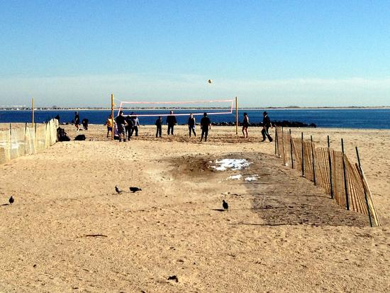 Beach Volleyball in Brighton Beach, Brooklyn