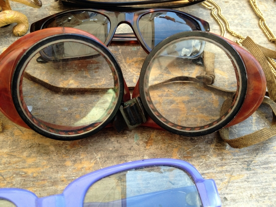 Vintage Brille auf dem Brooklyn Flea