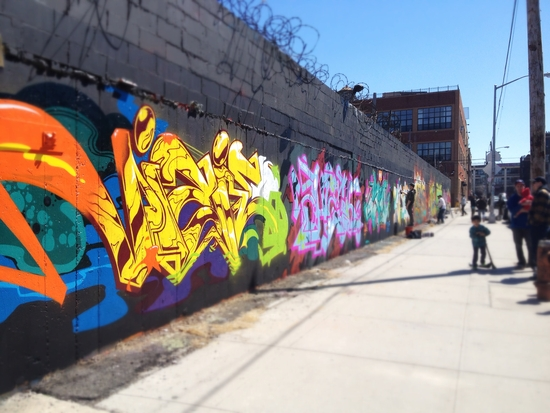 Graffiti mit Schriftzügen in New York