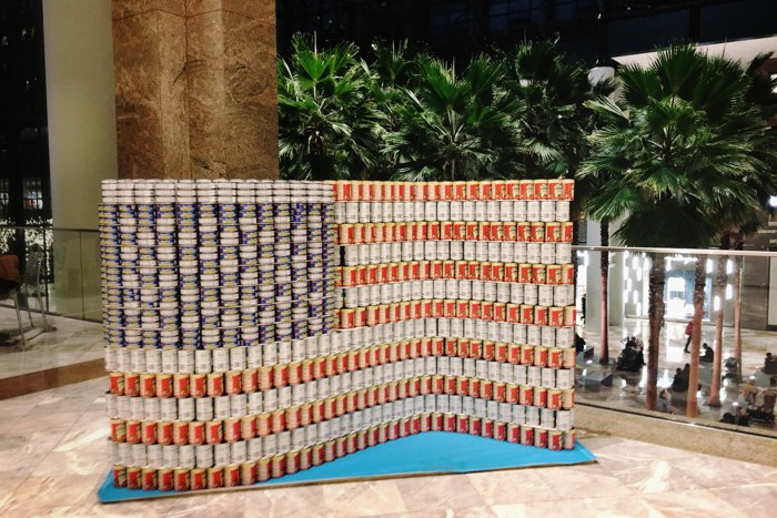 Canstruction 2018 Flag