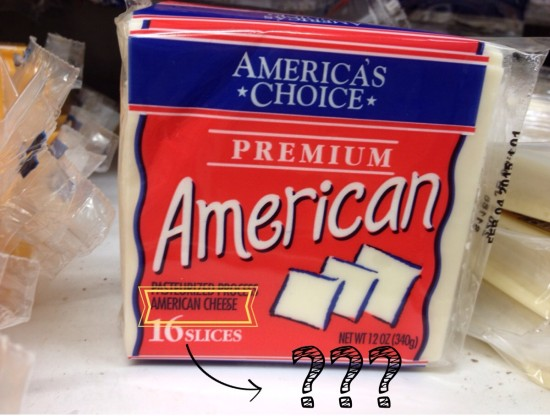 Kein wahrer American Cheese