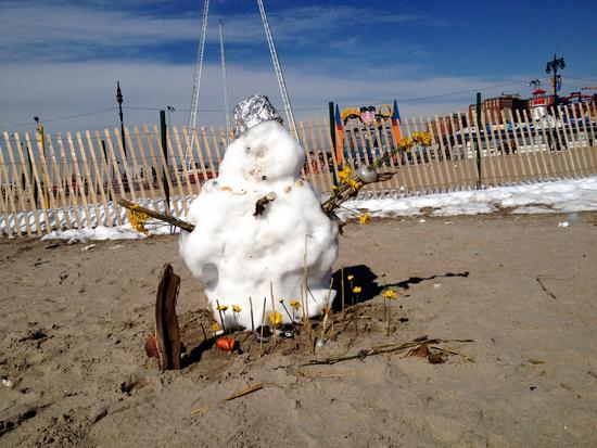 Schneemann in Coney Island, Brooklyn