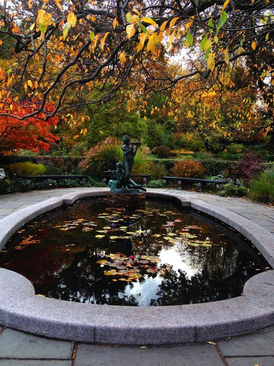 Herbst im Conservatory Garden