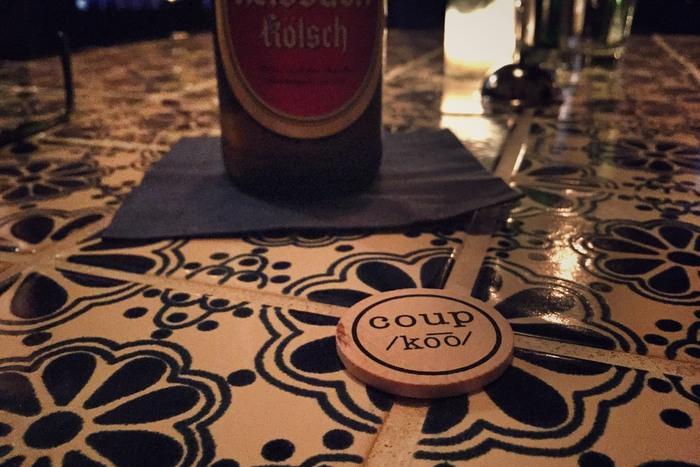 Coup Coin zum Bier