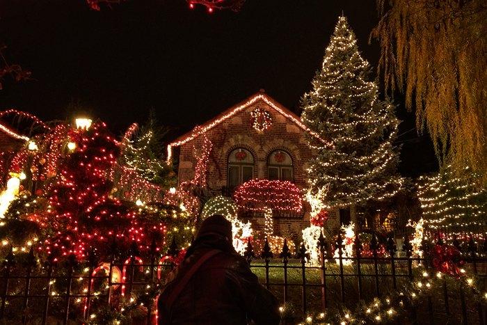 Dyker Heights Weihnachtsbeleuchtung