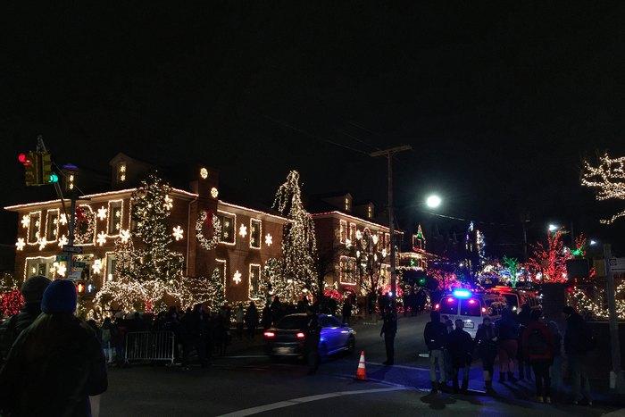 Dyker Heights Kreuzung Weihnachten