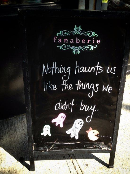 Geister des Einkaufs