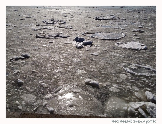 Eis auf dem Hudson