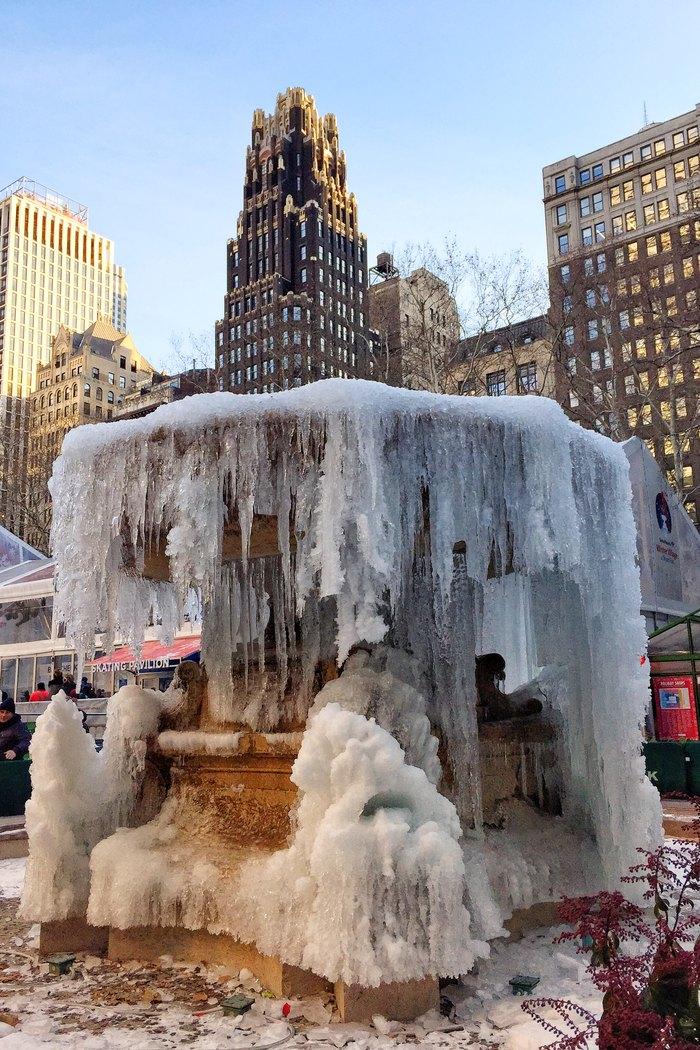 Eisbrunnen Bryant Park