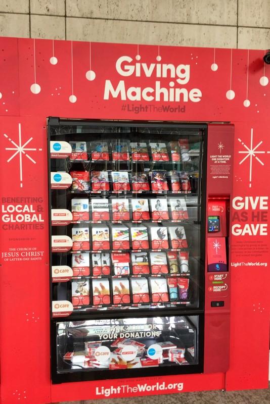 Geschenkeautomat Mormonen