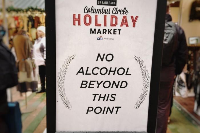 Alkohol Weihnachtsmarkt New York