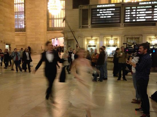 Passanten im Bahnhof in New York