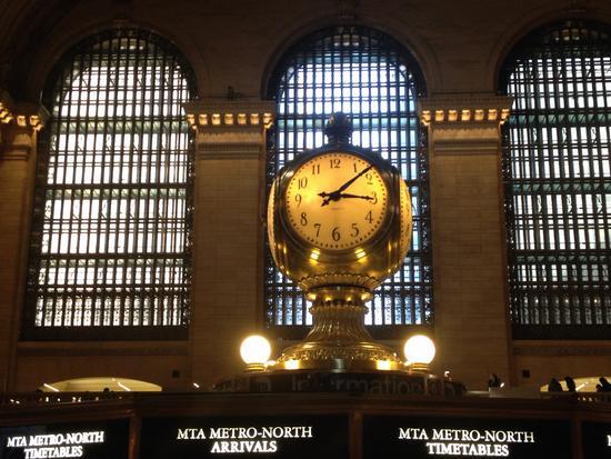 die berühmte Uhr in Grand Central