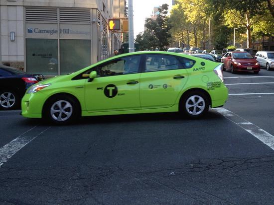 Yellow Cab? Von wegen. Dieses Taxi ist grün.