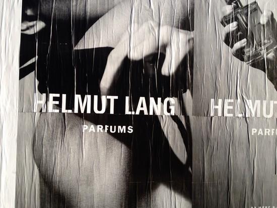 Werbung für Helmut Lang in New York