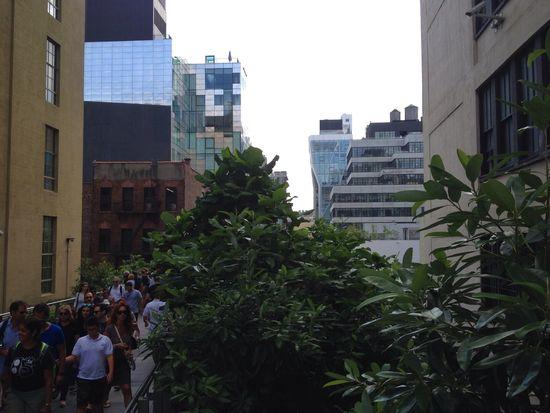 Viele Besucher auf der High Line