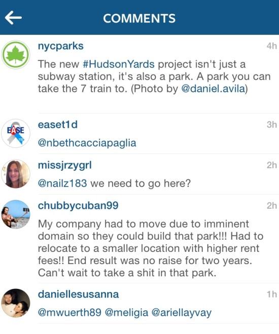 Instagram Kommentar