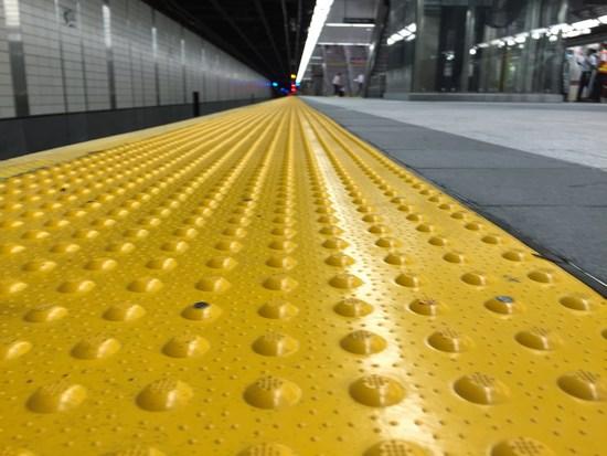 Seltenheit: Saubere Haltestelle in New York