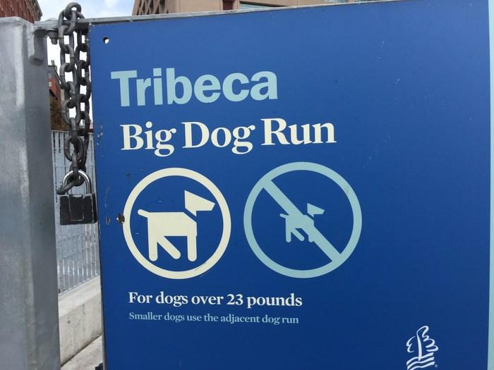 Hundepark Dog Park Auslauf New York nach Gewicht