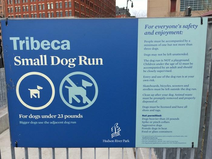Hundepark-Regeln in Tribeca