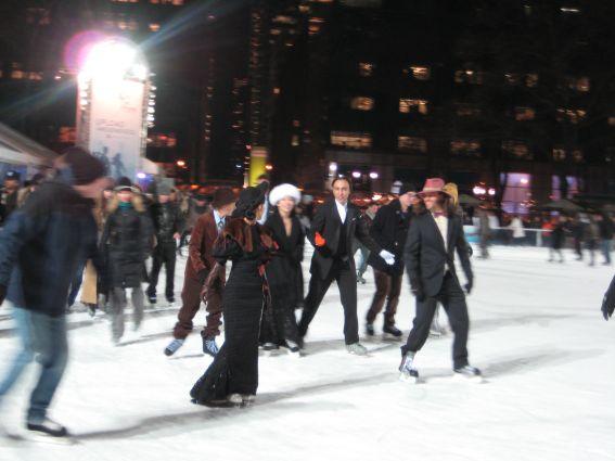 Glamour auf dem Eis - typisch New York!