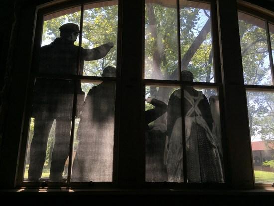 Kunst von JR auf Ellis Island, New York