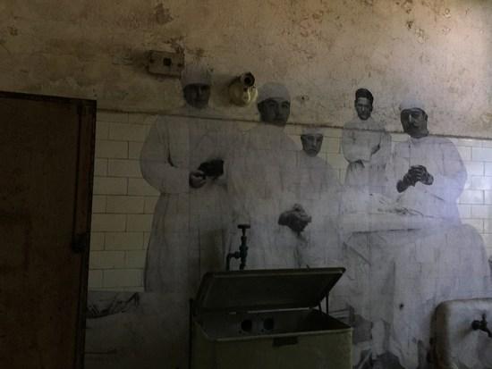 Mitarbeiter des Ellis Island Hospital