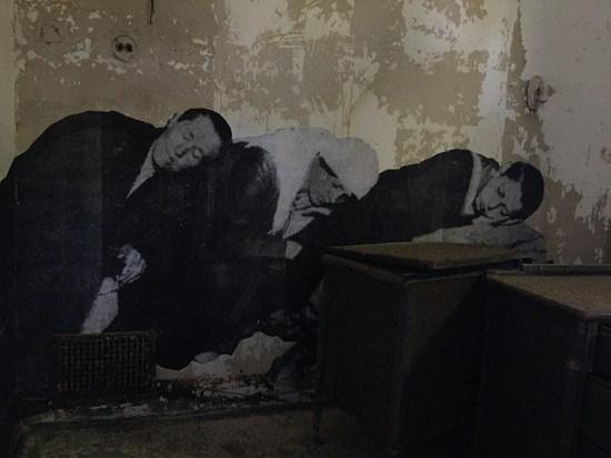 Müde Einwanderer auf Ellis Island