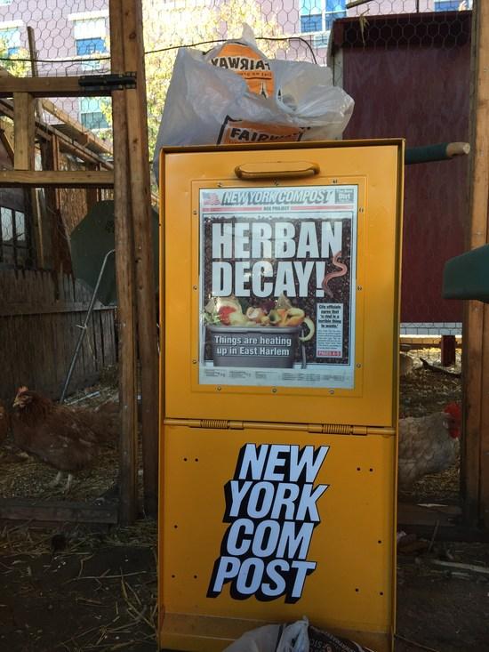 Zeitungskasten für Kompost