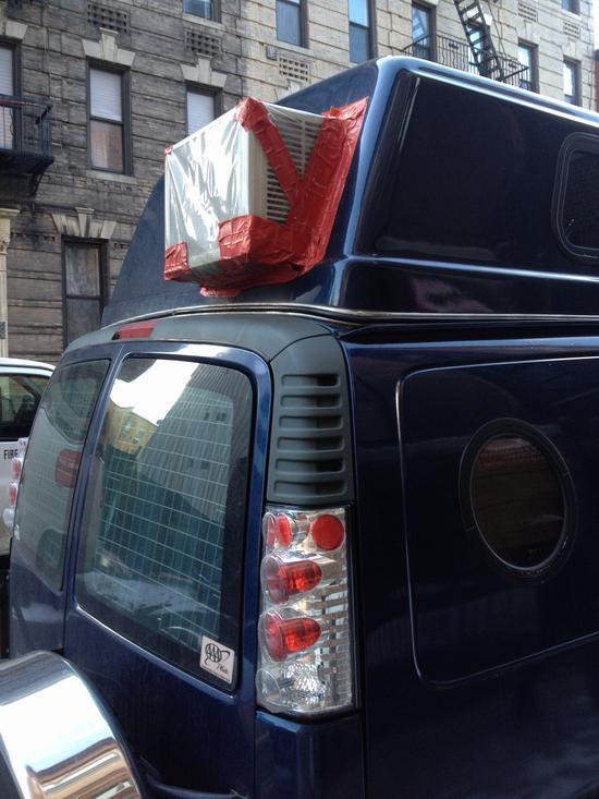 Gibt Rätsel auf: dieses Auto mit Klimaanlage