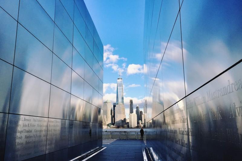 Empty Sky 9-11 Denkmal Liberty State Park New Jersey
