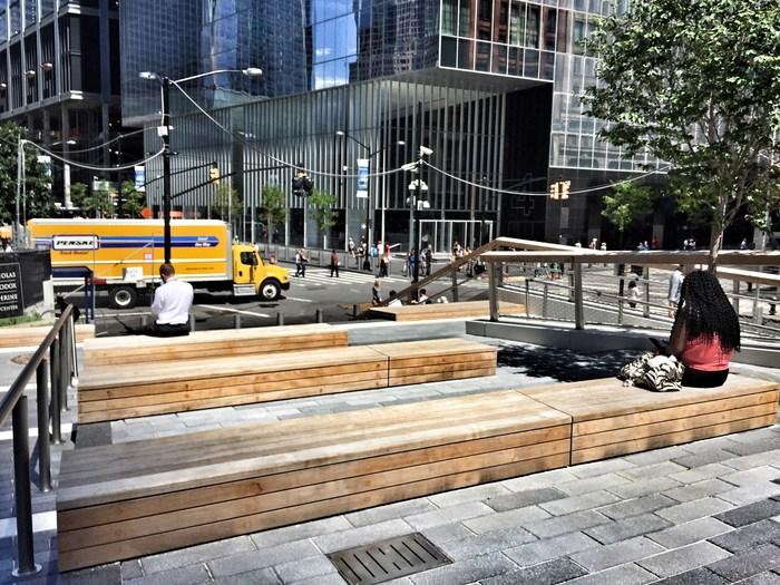 Liberty Park Eingang beim WTC 4