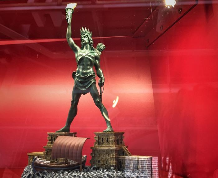 Koloss von Rhodos im Lighthouse Museum New York