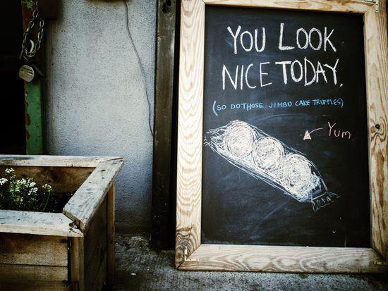 Toll siehst du aus! Schild in New York