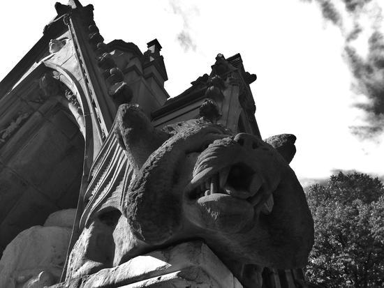 Ein Gargoyle in New York