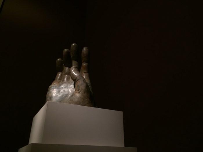 Buddhas rechte Hand im Met Museum