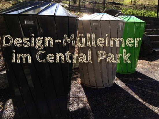 Design-Mülleimer im Central Park