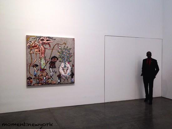 Takashi Murakami und ein Aufpasser