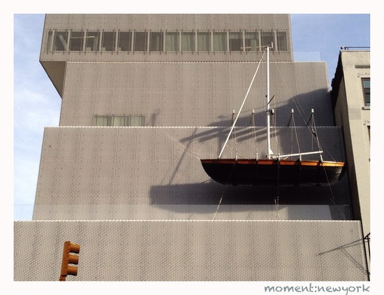 Schiff am New Museum New York