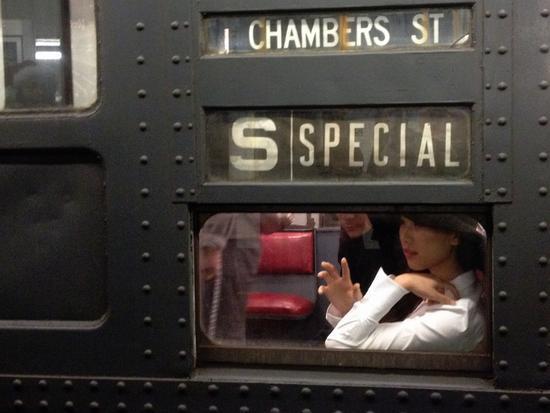U-Bahn-Waggon aus den 60er Jahren in New York