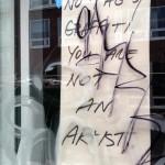 Schild: Keine Tags, kein Graffiti. Du bist kein Künstler.