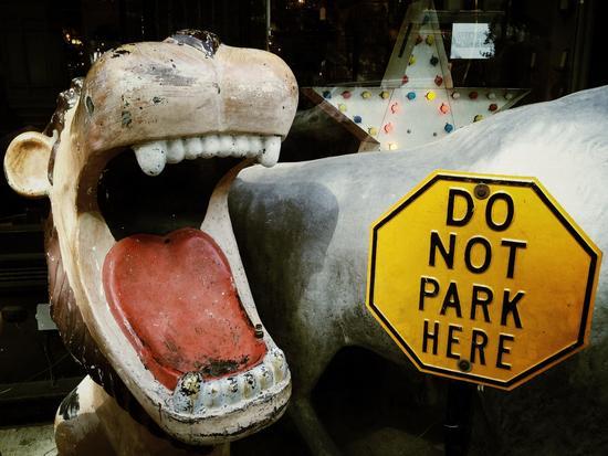 Hier nicht parken - rrroaaar!