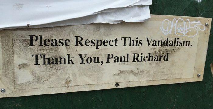 Blickfang Paul Richard Vandalismus Streetart