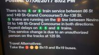 MTA Announcement U-Bahn Stillstand New York