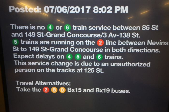 MTA Announcement U-Bahn Stillstand New York