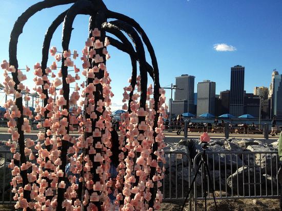 Kirschbaum vor der Skyline?